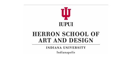 Text Herron Schoof of Art and Design Indiana University Indianapolis on white background