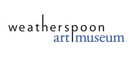black text that reads weatherspoon art musem on white background