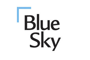 Logo and Text: Blue Sky