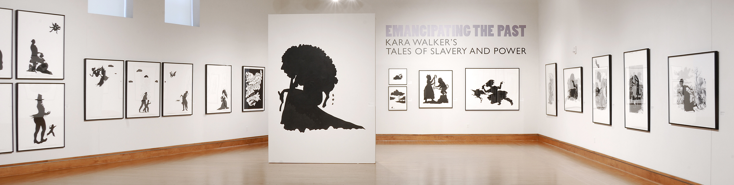 Photo of Emancipating the Past: Kara Walker's Tales of Slavery and Power exhibition at the David C. Driskell Center in 2015