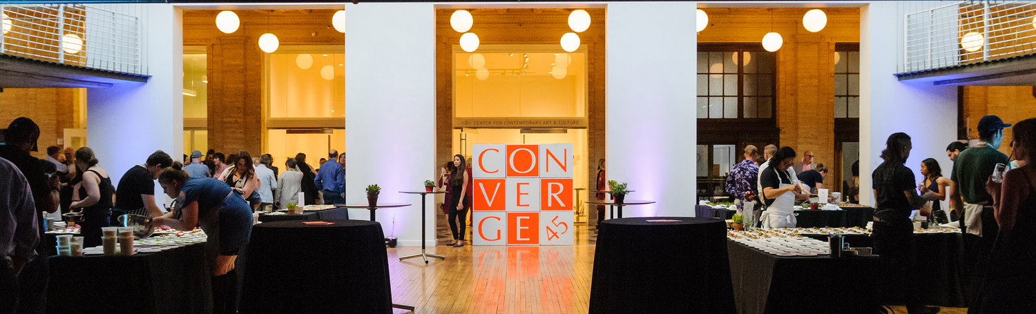 Image of Converge 45 event taking place in a ballroom from 2016